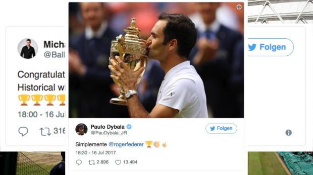 Wimbledon: Sportwelt verneigt sich vor Federer