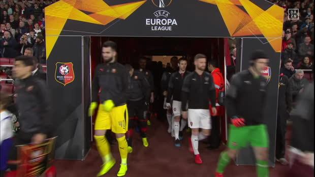UEFA Europa League: Arsenal - Rennes | DAZN Highlights