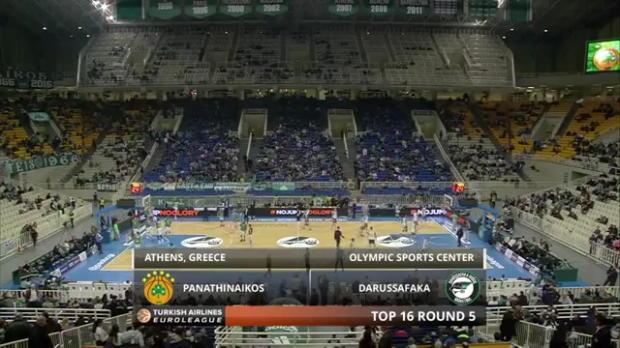 Highlights: Panathinaikos Athens-Darussafaka Dogus Istanbul