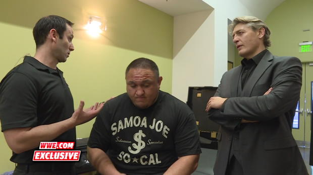 William Regal is informed of Samoa Joe's previously undisclosed injuries: WWE.com Exclusive, Aug. 31, 2016