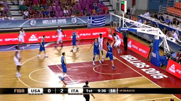 Basket : FIBA - USA - Spectaculaire alley-oop