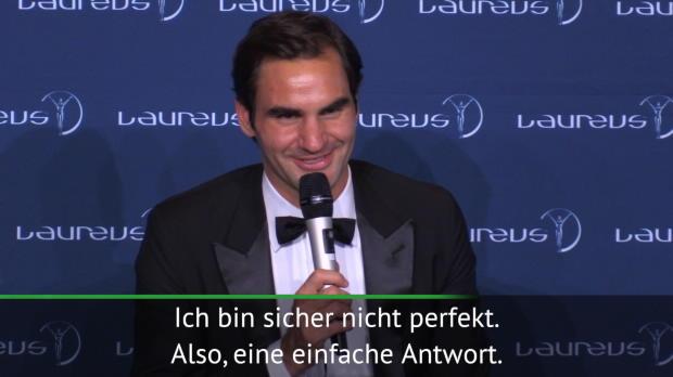 """Federer scherzt: """"Mache Millionen Fehler"""""""