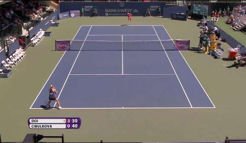 Doi v Cibulkova Highlights: WTA Stanford QF