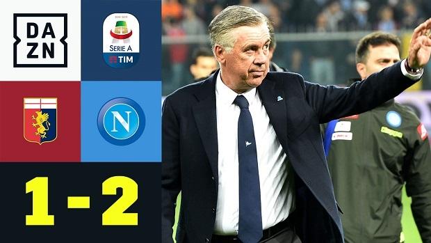 Serie A: CFC Genua - Neapel   DAZN Highlights