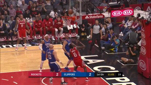WSC: James Harden, Clint Capela Highlights vs. Los Angeles Clippers