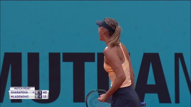 : Madrid - Sharapova plus solide que Mladenovic