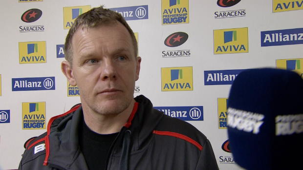 Aviva Premiership - Mark McCall speaks after his sides victory over Sale Sharks