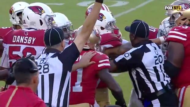 NFL: Klopperei bei Cardinals@49ers