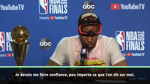 "Basket : Finals - Leonard - ""Beaucoup de gens doutaient de moi"""