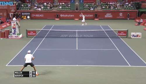 Muller v Berdych Highlights: ATP Tokyo R1