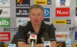 Coach Ernie Merrick was proud of his young side's win in trying conditions against the Jets.