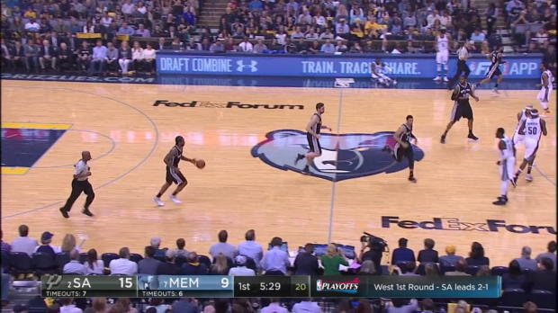 WSC: Head-to-head:More than 27 points of Kawhi Leonard, Mike Conley in San Antonio Spurs vs. the Grizzlies, 4/22/2017