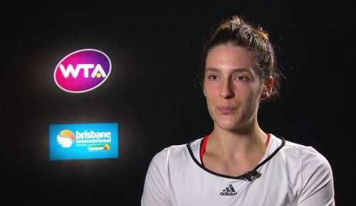 Petkovic Interview: WTA Brisbane 2R