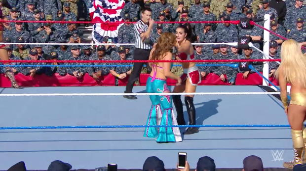 Mickie James, Bayley & Sasha Banks vs. Absolution - Six-Woman Tag Team Match: WWE Tribute to the Troops 2017
