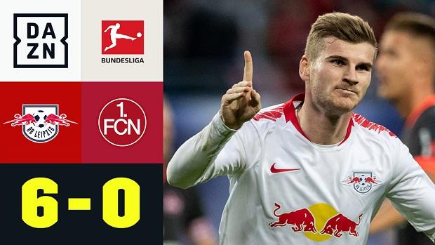 Bundesliga: RB Leipzig - 1. FC Nürnberg | DAZN Highlights