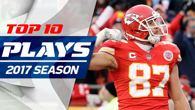 Top 10 Kansas City Chiefs TE Travis Kelce plays | 2017 season