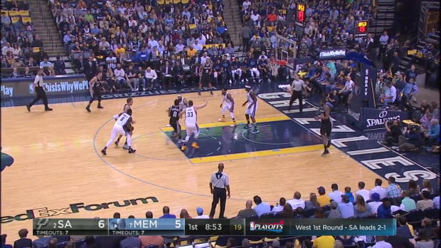 WSC: Mix clip: More than 20 points of Kawhi Leonard, Tony Parker, Mike Conley in San Antonio Spurs vs. the Grizzlies, 4/22/2017