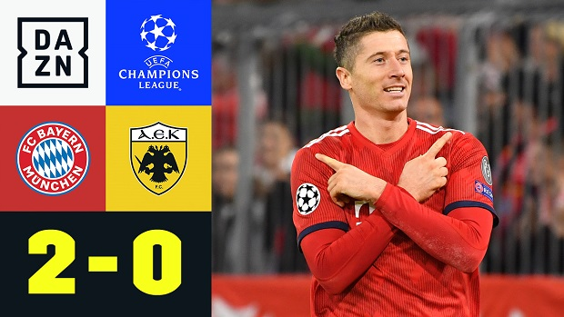 UEFA Champions League: FC Bayern - AEK Athen   DAZN Highlights