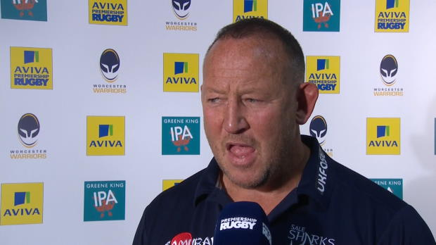 Aviva Premiership - Steve Diamond Interviewed After Worcester v Sale