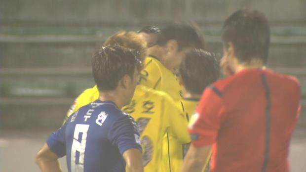 L'attaquant Ahn Yong-Woo de Jeonnam a inscrit le but de la semaine du championnat coréen, lors de la victoire de son équipe (3-1) contre Suwon Bluewings.