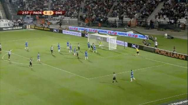 L.Europa : PAOK 6-1 Dinamo Minsk