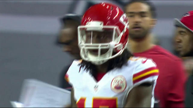 Chris Conley drops pass from Alex Smith