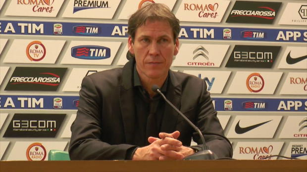 L'entraîneur de la Roma, qui avait l'occasion de revenir à un point de la Juventus, reste à distance suite à son match nul concédé face à l'AC Milan samedi soir.