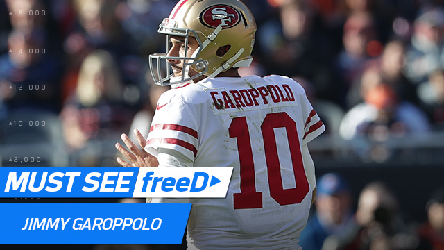freeD: Watch Jimmy Garoppolo's reads as he sees Marquise Goodwin over the middle | Week 14