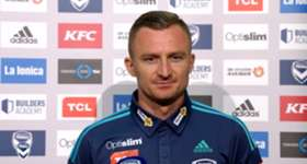 Hear from Melbourne Victory striker Besart Berisha on catching Sydney FC, an upcoming milestone and representing Kosovo.