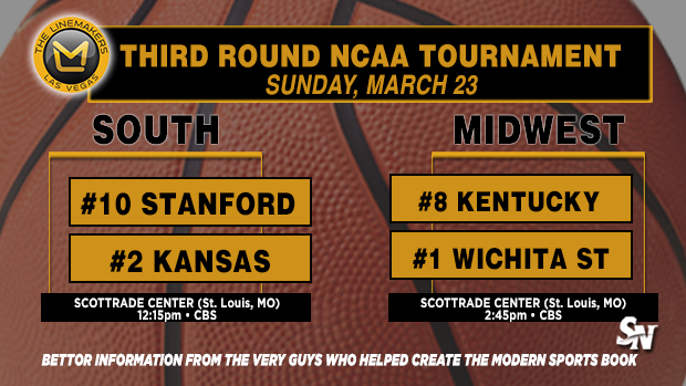 Stanford vs Kansas, Kentucky vs Wichita State