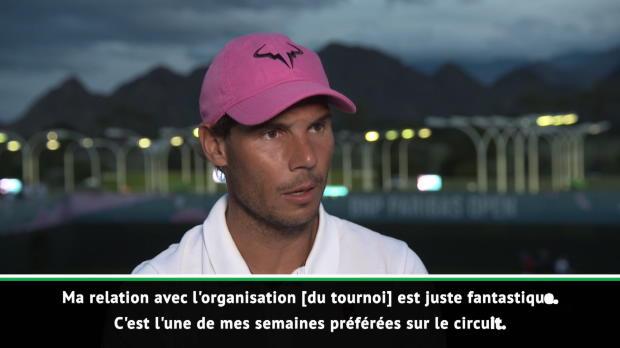 : Indian Wells - Nadal - 'Une de mes semaines préférées sur le circuit'
