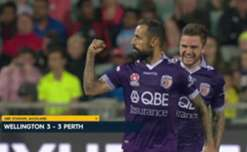 A majestic Diego Castro free kick helped Perth come from two goals down to earn a point against the Phoenix on Saturday.
