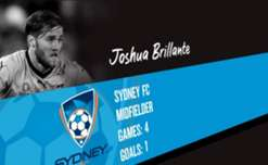 Sydney FC midfielder Josh Brillante is the November nominee for the NAB Young Footballer of the year award.
