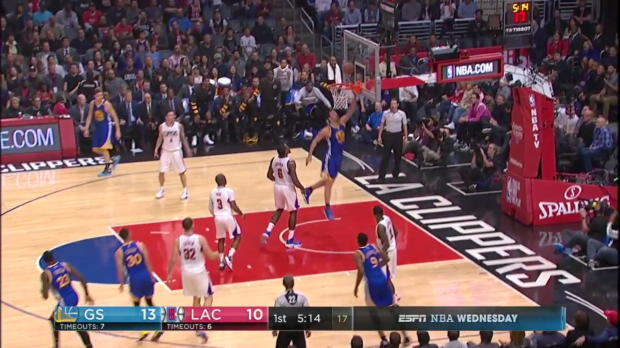 WSC: Stephen Curry with the nice dish vs the Clippers