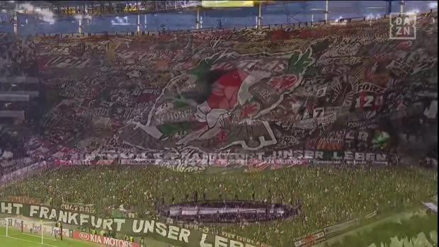 Eintracht-Choreo gegen Chelsea | Europa League Viral