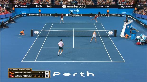Hopman Cup: Federer und Bencic triumphieren