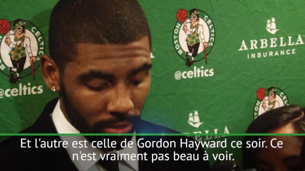"""Basket : Celtics - Irving - """"Hayward, une des pires blessures que j'ai vues dans ma carrière"""""""