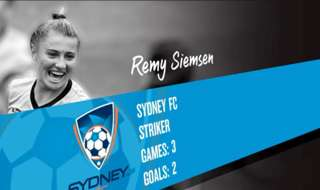Sydney FC youngster Remy Siemsen is the November nominee for the NAB Young Footballer of the Year award.