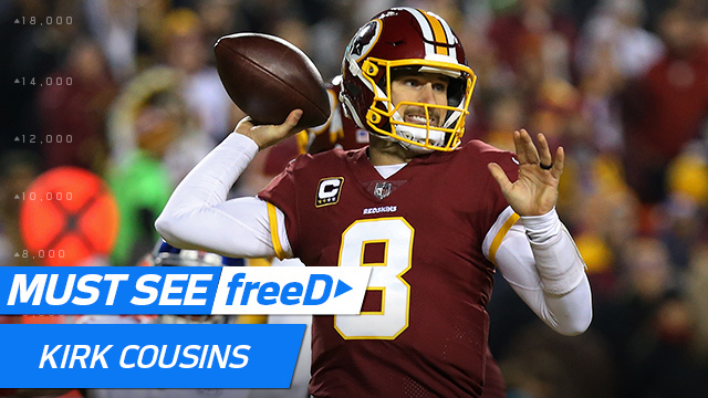 freeD: Go inside Kirk Cousins' helmet as he spies wide-open Jamison Crowder for TD | Week 12