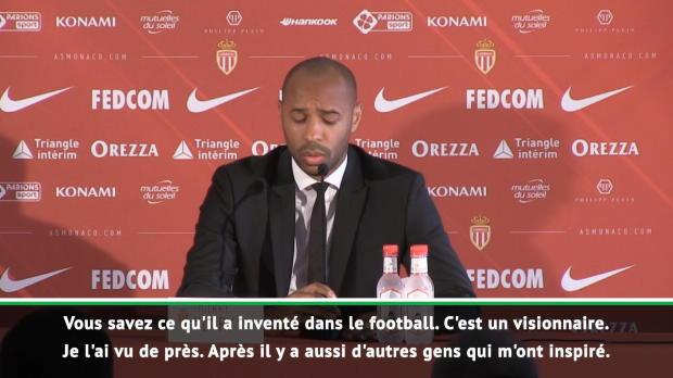 Monaco - 'Wenger, Guardiola et le jeu à la nantaise' - ils ont inspiré Thierry Henry