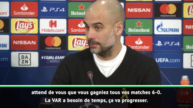 8es - Guardiola au secours de la VAR