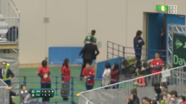 Davis Cup: Kurios: Spieler rennt zur Toilette