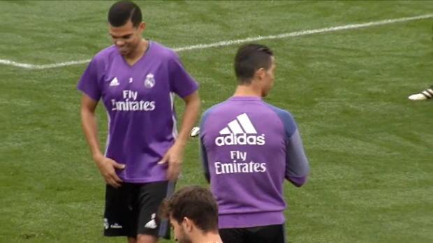 لقطة: كرة قدم: سلوكيات رونالدو المتقلبة في تدريبات ريال مدريد