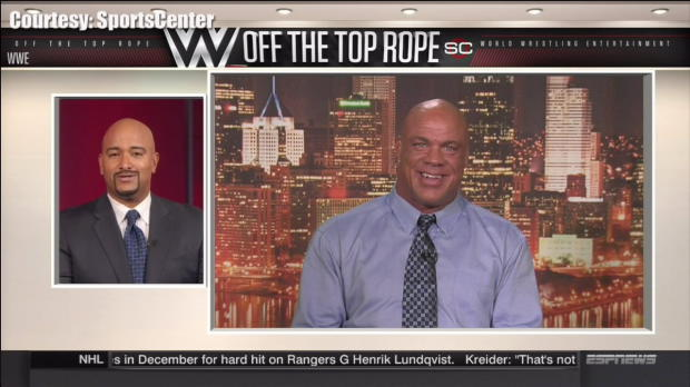 Kurt Angle joins ESPN's SportsCenter to discuss his WWE Hall of Fame induction