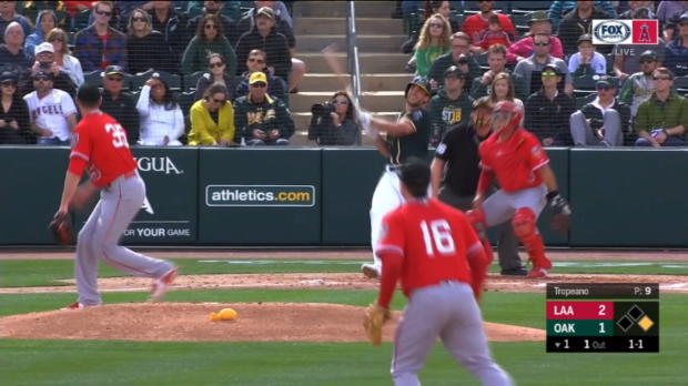 Olson's two-run homer