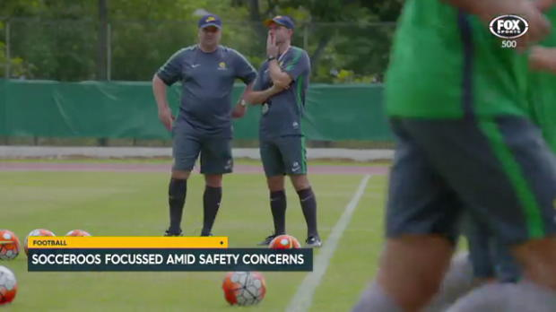 Socceroos on task in Singapore