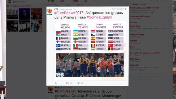 Eurobasket 2017 - Suerte para España en el sorteo