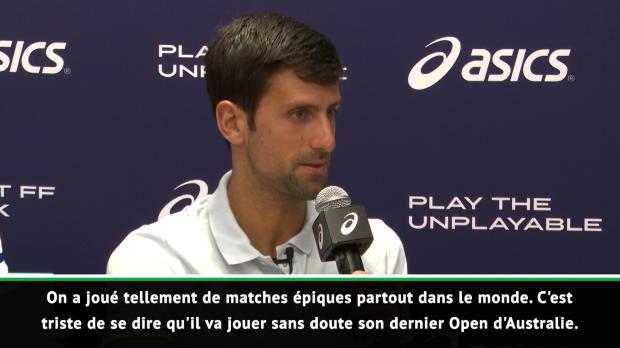 : Open d'Australie - Djokovic - 'Sous le choc'