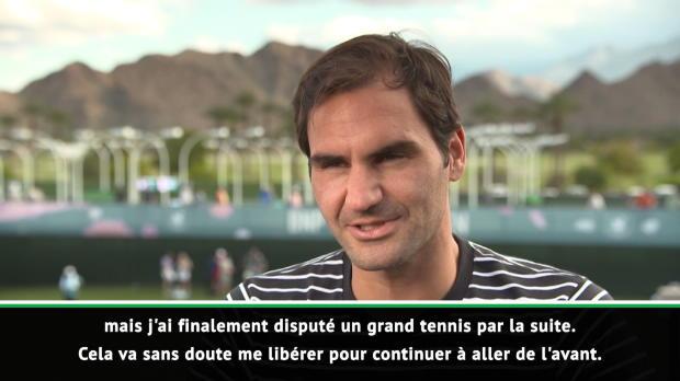 : Indian Wells - Federer se sent 'libéré pour aller de l'avant' après son 100e titre