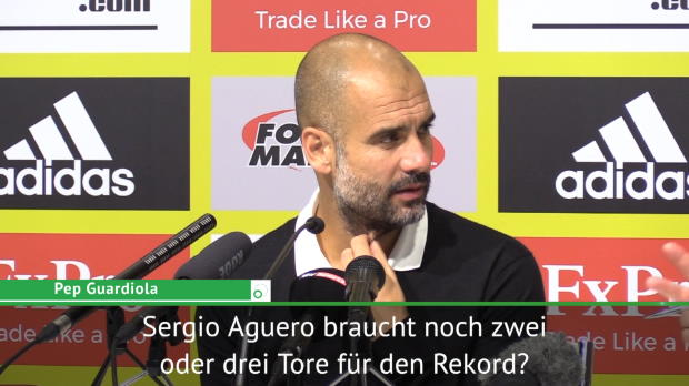 Guardiola: Torrekord? Aguero ist eine Legende!